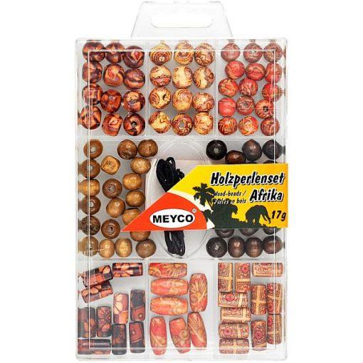 Meyco - Mix margele lemn Africa + snur 132-50