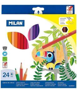 Milan - Creioane Colorate set 24 vârf fin 80024