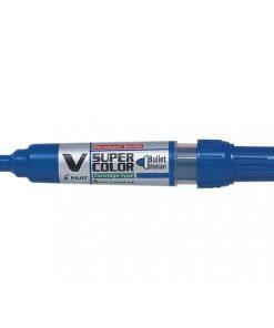 Pilot Permanent Marker V-Super Color Albastru