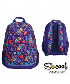 S-cool - Ghiozdan Backpack 46cm Paisley SC774