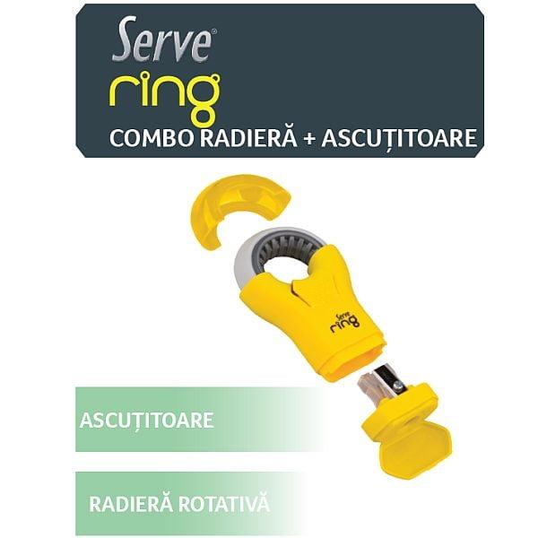 Serve Ring Combo Ascutitoare + Radiera