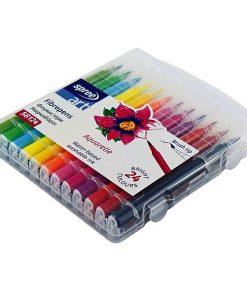 Spree Carioci Colorate Brush tip pensulă set 24 culori