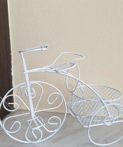 Tricicleta alba metalica PentArt 389025