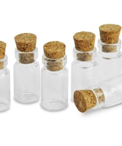 6 Mini butelii sticla 11 x 22 mm Meyco 63451