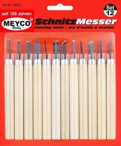 Meyco Set 12 dalti mici pentru sculptat 65081