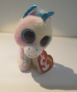 Unicornul Blitz cu breloc TY 35208 Beanie Boos