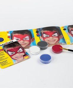 Eberhard Faber Set pictura pe fata 4 culori Spiderman detalii