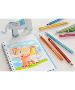 Faber Castell - Creioane colorate triunghiulare Jumbo 1165