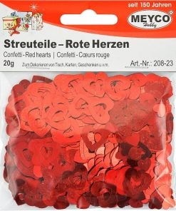Meyco Decoratiuni Confetti Inimi rosii 208-23