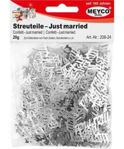 Meyco Decoratiuni Confetti Just Married Argintii 208-24