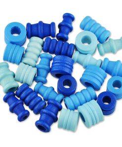 Meyco - Mix margele lemn nuante Albastru 350-05