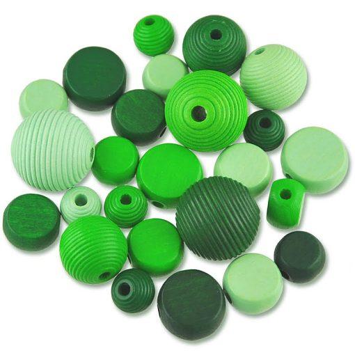 Meyco - Mix margele lemn nuante Verde 350-02