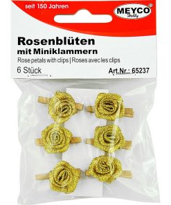 Meyco Set Trandafiri aurii cu clema 65237