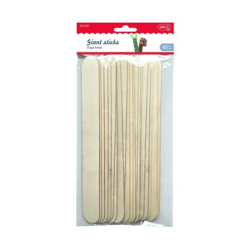 Daco - Bețe late din lemn Giant Sticks ADL361