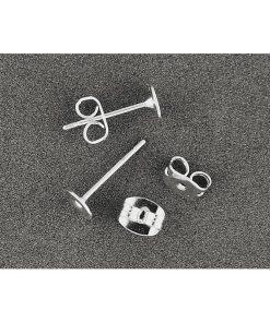 Inchizatoare cercei cu placa Meyco argintiu 61439