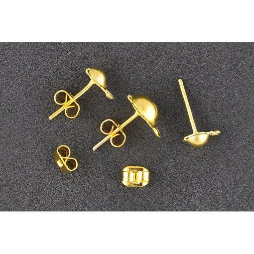 Inchizatoare cercei cu suport Meyco auriu 61433