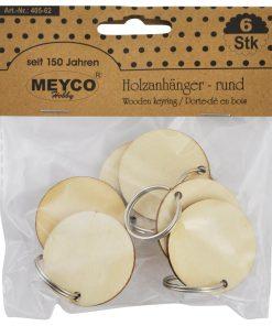 Meyco Breloc rotund din lemn 405-62