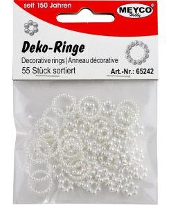 Meyco Inele din perle decorative 65242