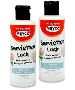 Meyco Lac tehnica servetelului mat sau lucios