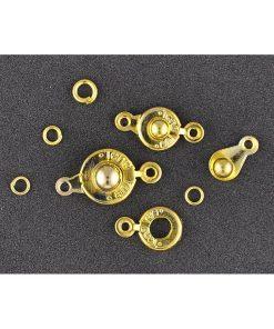 Inchizatoare bijuterii cu cap rotund Meyco Aurii 61417