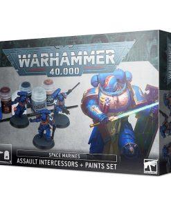 Warhammer Space Marines Assault Intercessors + Paint set