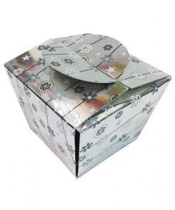 Cutie cadou argintie carton 12901