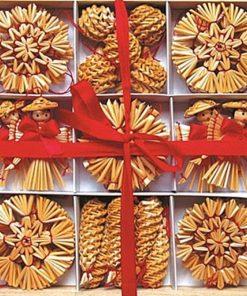 Set 40 ornamente din paie Andel Prerov 2226