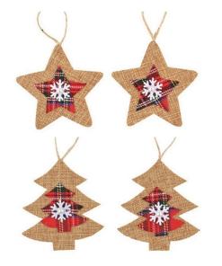 Ornamente Craciun din iuta PentArt 3711