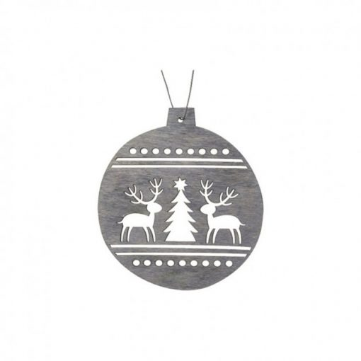 Ornament glob cu model din lemn Andel Prerov 404