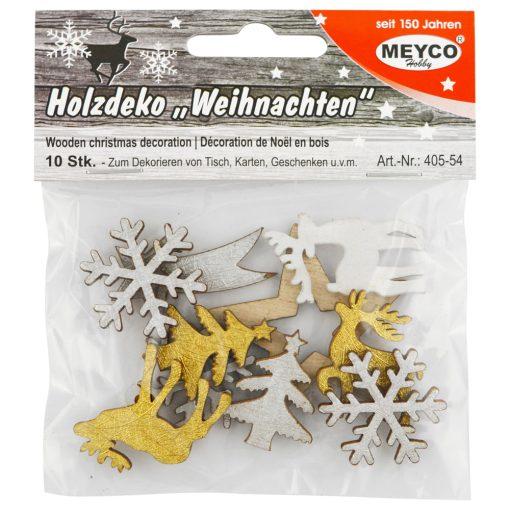 Ornamente asortate lemn Craciun Meyco 405-54