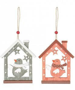 Ornament casuta din lemn Andel Prerov 4772