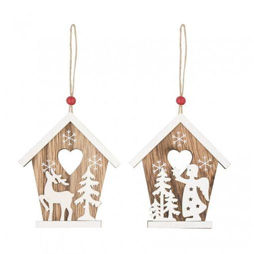 Ornament casuta din lemn Andel Prerov 4773