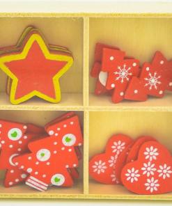 Set ornamente din lemn Craciun Koh-I-Noor 807