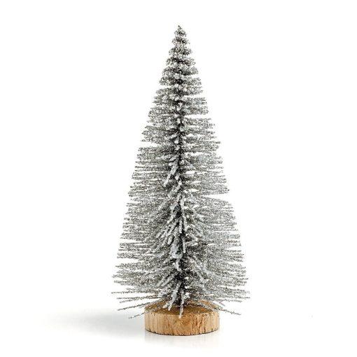 Bradulet decorativ argintiu cu sclipici 10 cm 359018