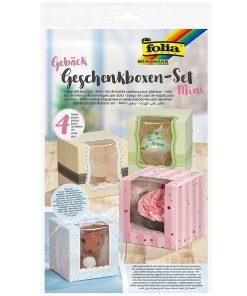 Folia Set 4 mini cutii din carton pentru cadou 48403