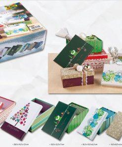 Folia Set 6 cutii din carton pentru cadou Craciun 32602