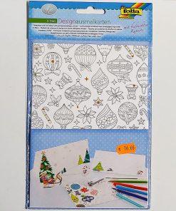 Folia Set Felicitari de colorat pentru Craciun 14902