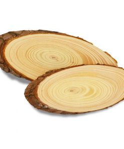 Meyco Felie ovala de lemn cu scoarta