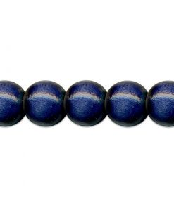 Meyco Perle Albastre de lemn, forma rotunda