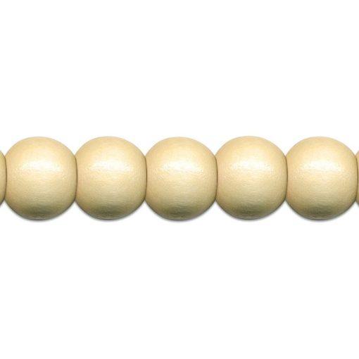 Meyco Perle Natur de lemn, forma rotunda