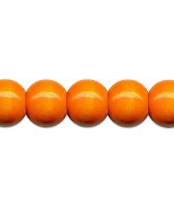 Meyco Perle Portocalii de lemn, forma rotunda