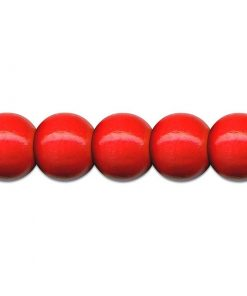 Meyco Perle Rosii de lemn, forma rotunda