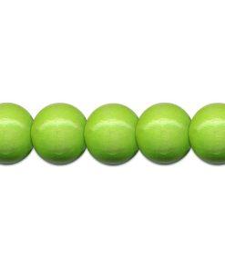 Meyco Perle Verde deschis de lemn, forma rotunda