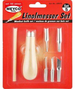 Meyco Set cutite pentru Linogravura 65079