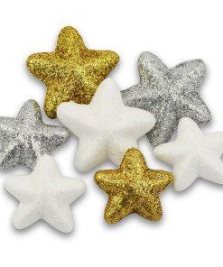 Meyco Stele de polistiren cu glitter