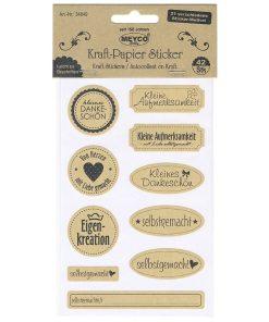 Meyco Sticker pe hartie natur diverse mesaje 34849