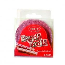Banda textila rosu imbulinat Daco AD065