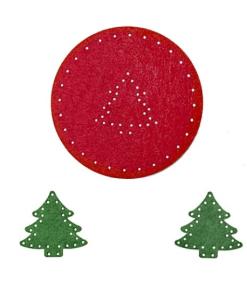 Cercuri creative din fetru diverse modele Seturi 1 cerc decorativ din fetru cu mini accesorii de cusut inimi sau brazi. Dimensiuni 6 cm. Grosime 3mm.