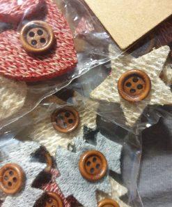 Figurine decorative cu buton din lemn PentArt