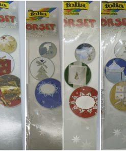 Set decorativ Craciun Folia 4 modele